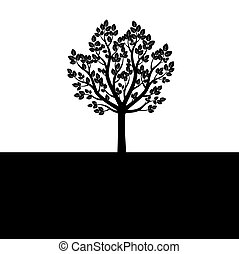 Vector Black Tree.