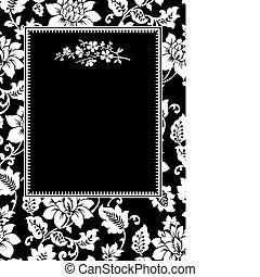 Vector Black Twig Frame