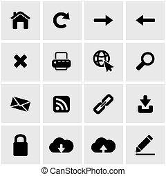 Vector black web icon set