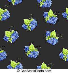 Vector blackberry seamless - Vector illustration seamless...