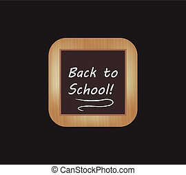 Vector blackboard square icon