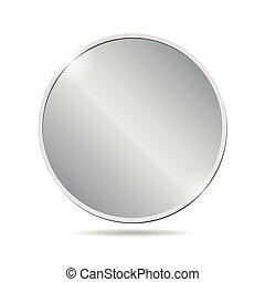 vector, blanco, fondo blanco, moneda, plata, ilustración