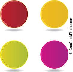 Vector blank badge template illustration