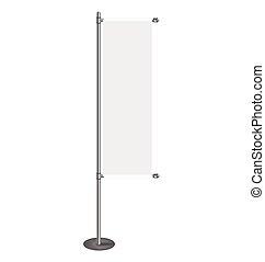 Vector blank banner flag for designers