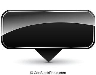 Vector blank black icon - Vector illustration of blank black...