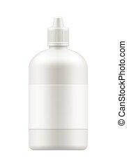 Vector blank bottle with cap.