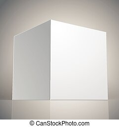 Vector blank box, template for your