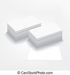 business card on white background