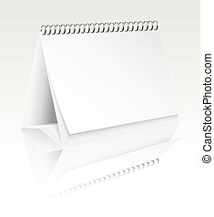 vector blank desk calendar