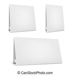Vector blank desk calendar with stand.