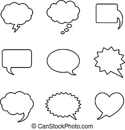 Blank empty white speech bubbles - Vector Blank empty white...