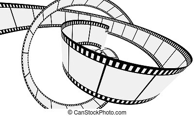 Vector Blank film strip - Twisted Blank film strips. Vector...