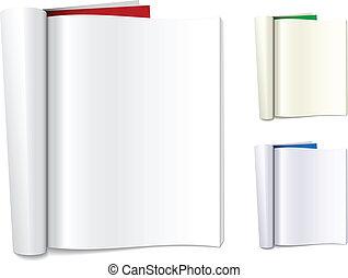 vector blank folded magazines