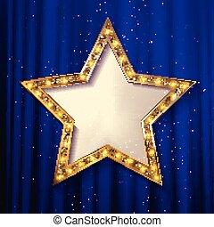 vector blank golden star