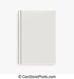 Vector blank gray realistic book cover mockup