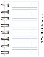 vector blank lined notebook large spring