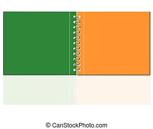 Vector blank  notebook