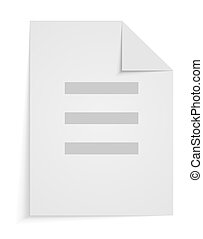 Vector blank on white background. Eps 10