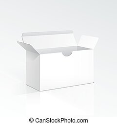 Vector Blank Open Box
