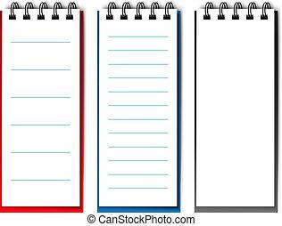 Vector blank open notebook - EPS 10 - illustration