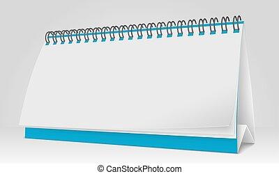 Vector Blank Paper Desk Calendar