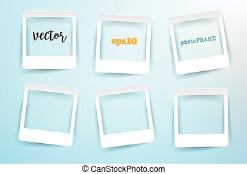 Vector Blank Photo Frames