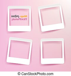 Vector Blank Photo Frames with empty space for your image.