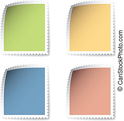 vector blank post stamp