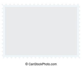 Vector blank postage stamp with place for your text
