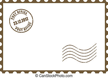 Vector blank postcard illustration