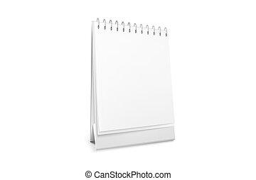 Vector blank standing desk calendar with a spiral.
