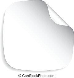 vector blank sticker