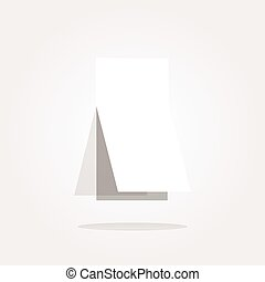 vector Blank sticker with curled corner on web icon (button)