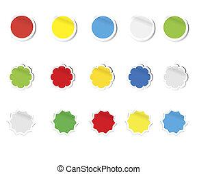 vector blank stickers figures