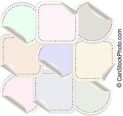 vector blank stickers label tag set