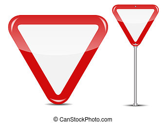 Vector Blank Traffic Sign isolated on white background