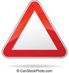 Vector blank triangular sign