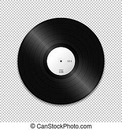 vector blank vinyl record mockup