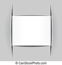vector blank white attached paper