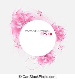 vector, bloem, achtergrond, romantische