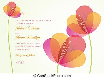 vector, bloem, achtergrond