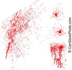 Set of vector splatter patterns. Great for blood or paint