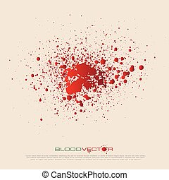 vector blood splatter isolated,vector design