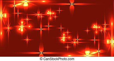Vector bloody background with shining light metal stars.