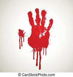 Vector Bloody Hand Print