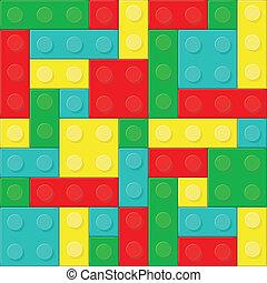 vector, bloques, (removable, ilustración, pieces).,...