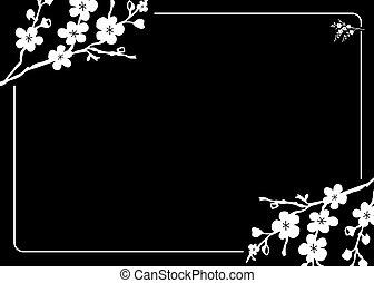 Vector Blossom Frame