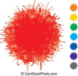 vector, blots, color, -, diseño determinado, elementos