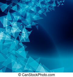 vector blue abstract background with scattered shapes