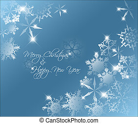 Vector blue abstract Christmas background